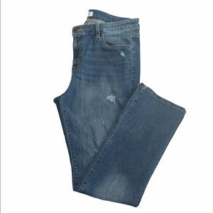 Lane Bryant mid rise distressed bootcut jeans 18